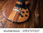Electric guitar on exotic wood...