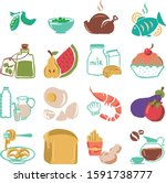 food set collection icon design ...   Shutterstock .eps vector #1591738777
