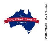 happy australia day 26th...   Shutterstock .eps vector #1591768861