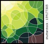 Abstract Geometric Mosaic Background - stock photo
