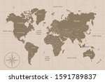 old map world in illustration | Shutterstock . vector #1591789837