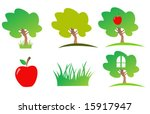 nature icon set | Shutterstock .eps vector #15917947