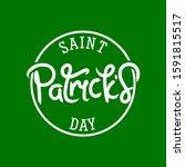saint patrick's day hand... | Shutterstock .eps vector #1591815517