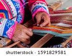 Local Woman Hand Weaving...