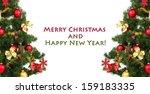 decorated christmas tree... | Shutterstock . vector #159183335