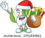 santa claus with gift bag... | Shutterstock .eps vector #1591834861