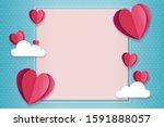 happy valentines day concept... | Shutterstock . vector #1591888057