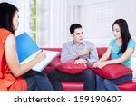 couple having a consultation... | Shutterstock . vector #159190607