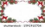 christmas background with... | Shutterstock .eps vector #1591910704
