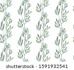 seamless floral pattern with ... | Shutterstock .eps vector #1591932541