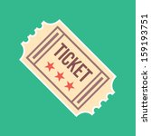 vector vintage ticket icon | Shutterstock .eps vector #159193751