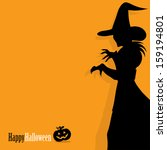 happy halloween background with ... | Shutterstock .eps vector #159194801