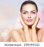 beauty portrait. beautiful spa... | Shutterstock . vector #159195131