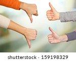 human hands on bright background | Shutterstock . vector #159198329