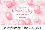 women's day special offer. 70 ... | Shutterstock .eps vector #1592001091