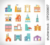 cute collection of city and... | Shutterstock .eps vector #159200807
