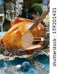 Carving Roasted Turkey...