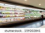 shelf with fruits in supermarket | Shutterstock . vector #159202841