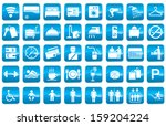 vector icon for hotel facilities | Shutterstock .eps vector #159204224