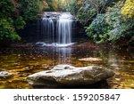 Schoolhouse Falls in Panthertown Valley near Lake Toxaway, North Carolina