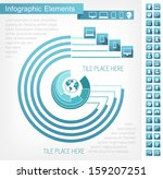 IT Industry Infographic Elements. Plus Flat Icon Set. Vector Illustration EPS 10. - stock vector