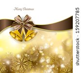 christmas background with... | Shutterstock .eps vector #159207785