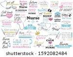 nurse vector quote. medical... | Shutterstock .eps vector #1592082484