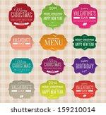vector set of vintage paper...   Shutterstock .eps vector #159210014