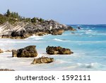 coastline with very blue waters | Shutterstock . vector #1592111