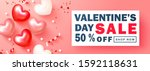 valentines day sale background... | Shutterstock .eps vector #1592118631