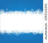 blue winter banner with white... | Shutterstock .eps vector #1592122291