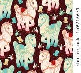 toy horse vector seamless... | Shutterstock .eps vector #159216671