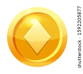 game coin gold with diamond...