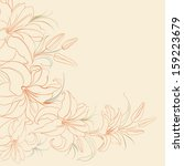 lily frame isolated over sepia. ... | Shutterstock . vector #159223679