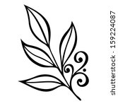 original decorative leaf with... | Shutterstock .eps vector #159224087