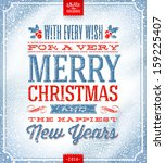vector christmas greeting card  ... | Shutterstock .eps vector #159225407
