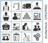 project management icons ... | Shutterstock .eps vector #159229061
