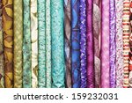 rolls of colorful fabric as a... | Shutterstock . vector #159232031