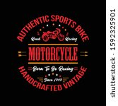 motorcycle t shirt  road racing....   Shutterstock .eps vector #1592325901