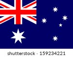 australia flag isolated vector... | Shutterstock .eps vector #159234221