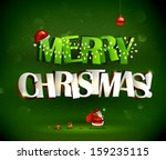 merry christmas inscription and ... | Shutterstock .eps vector #159235115