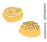sweet pastries  simple... | Shutterstock .eps vector #1592369944