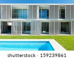 modern villa with pool  view... | Shutterstock . vector #159239861