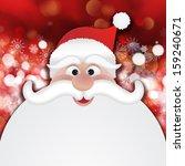Christmas Santa On A Background ...