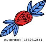 vector illustration. hand drawn ... | Shutterstock .eps vector #1592412661