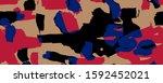 abstract rainbow isolated... | Shutterstock . vector #1592452021