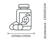 antidepressant linear icon.... | Shutterstock .eps vector #1592452144