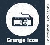 Grunge Line Computer Keyboard...