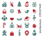 christmas icons set.vector | Shutterstock .eps vector #159247445