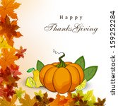 happy thanksgiving day concept  ... | Shutterstock .eps vector #159252284
